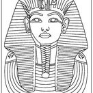 Kunst & Cultuur: kinder kleurplaten Egypte: Toetanchamon