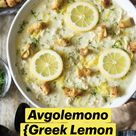 Avgolemono {Greek Lemon Chicken Soup}