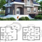 C-186 Проект большого дома с мансардой и балконами - Проекты домов и коттеджей в Москве