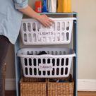DIY Laundry Basket Station