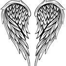 Tattoo engelen vleugels