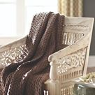 Home Decorators Collection Maharaja Sandblasted White Wood Hand-Carved Arm Chair-0105900980 - The Home Depot