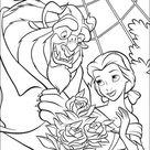 Belle en het Beest Kleurplaten Printen 10