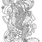 Anti Stress Coloring Pages Tattoos