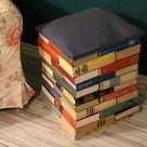 DIY! Wir bauen uns einen Hocker aus alten Büchern! Buch-Hocker #Upcycling #DIYAnleitung #OldBooks