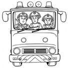 Feuerwehrmann Sam Ausmalbild | Feuerwehrauto Jupiter
