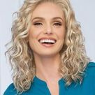 Blonde Monofilament Shoulder Length Best Curly Synthetic Wigs