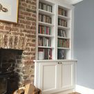 Traditional Style Bookcase with Base Cabinet