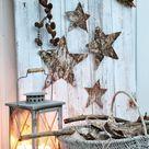 Aus Naturmaterialien Weihnachtsdeko selber basteln - Ideen