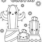 Cactus Coloring Page for Kids: It's Free!