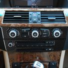 Real Carbon Fiber Auto CD Panel Decorative Frame Sticker For BMW 5 Series E60 2004 2010 Car Interior Modification Accessories