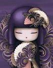 Kimono Dolls,  Diamond Painting Kit, Mosaic Cartoon Full Rhinestone Embroidery Needlework