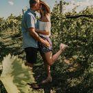 couples vineyard photoshoot