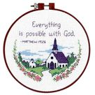 Dimensions Everything is Possible with God Religious Cross Stitch Kit 72472