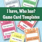 I have Who Has Template - Learning Games for Kids