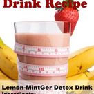 Detox Drink actually tastes really good.  Helps cleanse the digestive track for better fat burning. #weightloss