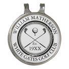 Personalized Classic Golf Club Name Golf Hat Clip | Zazzle.com