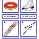 Flashcards  Wintersportgeräte & Winterausrüstung 1  mittel