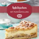 Apfelkuchen mit Puddingfüllung