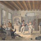 Jan Anthonie Langendijk Dzn, 1805 - Merry company at an inn - fine art print - Metal print (Aluminium Dibond) / 90x60cm - 35x24\
