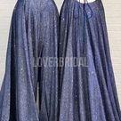 Navy Blue Spaghetti Straps Glitter Long Evening Prom Dresses, Evening Party Prom Dresses, 12282