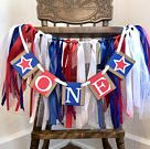 Fourth of July First Birthday Decorations  Red white blue 1st | Etsy