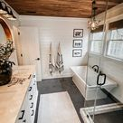 Modern farmhouse master bathroom renovation