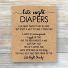 Late Night Diapers Printable Rustic Baby Shower Games | Etsy