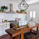 Kücheninsel Mit Sitzplätzen Butcher Block   - Kitchens