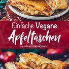 Apfeltaschen mit Blätterteig (Vegan, Einfach)