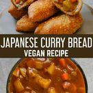 Vegan Japanese Curry Bread Buns (Kare Pan)