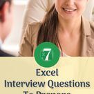 Top 7 Excel Interview Questions to Ace the Interview