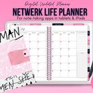 Feminist Digital Planner, Pink Digital Planner, Undated Planner, Stickers, Women Digital Journal, Goodnotes Planner, Notability, Tablet
