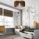 Kids Bedroom Wood Pendant Light, Modern Industrial Chandelier Brown, Hanging Ceiling Interior Lamp