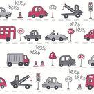 Beep Beep  Grey Cars - Sample