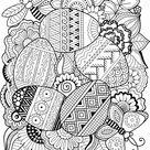 Vector Coloring Book Adult Easter Egg stockvector (rechtenvrij) 344662367