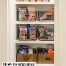 How to organize  a perfect pantry.