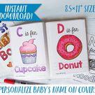 Printable ABC Book Baby Shower Activity / Alphabet Baby Book / | Etsy