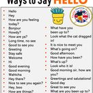 Other Ways To Say in English, Phrases Examples - English Grammar Here