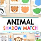 Animal Shadow Match Puzzle & Clip Card Pack - Frogs and Fairies