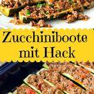 Zucchiniboote mit Hack aus dem Ofen - low carb, high protein - Eine Prise Lecker