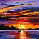 CARIBBEAN ISLANDS — PALETTE KNIFE Oil Painting On Canvas By Leonid Afremov