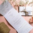 Rose gold Minimalist Concertina Wedding Invitations - Thank You card
