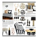 Charming   Black and gold living room, Home decor, Black and white living room