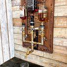 Liquor Alcohol Whiskey Wood & Brass Dispenser, Whiskey Dispenser, Whiskey Decanter, Dispenser, Jack Daniels, Wall Decor, Gift for him