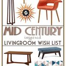 An Affordable Mid Century Inspired Living Room: Inspiration - MidMod Moodboard Monday