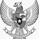 Logo Lambang Garuda Hitam Putih (BW)