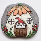 Downloadable Gnome at Home Painted Rock Tutorial | Etsy