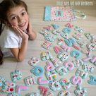 Kids alphabet Magnet letters alphabet Fabric letters ABC magnets Gift for kids Baby alphabet preschool Granddaughter gift Educational toys