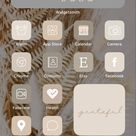 Neutral aesthetic nude tones iPhone home screen ideas Inspo inspiration app covers app icons ios14